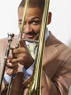 "NEA Jazz Masters Award-winnerThursday, September 10, 8:00 pmLocation: Colonial Theatre2050 Main StBethlehem, NHTicket: $68 Reserved, $52 General admission, $40 Members general admission.Over the course of his prolific music career, acclaimed trombonist, composer and producer Delfeayo Marsalis has been praised for his ""technical excellence, inventive mind and frequent touches of humor,"" and heralded as hailed as one of ""the best, most imaginative and musical of the trombonists of his generation."" Marsalis' commitment to the idea optimism and progressive musical thought can—and, in fact, should—coexist in modern New Orleans jazz is a conceptual cornerstone for both the Uptown Jazz Orchestra and their latest cd, Jazz Party. UJO performances are always a big party, opening and closing performances with second line numbers and often engaging audiences by encouraging their participation in the music. Marsalis, an NEA Jazz Master, has shared the bandstand with jazz legends Art Blakey, Max Roach and Elvin Jones, as well as pop icons Fats Domino, Ray Charles and George Clinton. Jeff Simon of the Buffalo News observed, ""Delfeayo is, in many ways, the most fun of the Marsalises. He's the family trombonist. And record producer. And he seems to be the family wise guy too!"" The Uptown Jazz Orchestra is stretching the boundaries of what is expected from big bands, playing with an extraordinary sense of joy and fun that could only be from New Orleans. Their repertoire consists of material that spans the 100+ years of American music with a contemporary flare. With influences from Louis Armstrong to Count Basie, James Brown to J Cole, Marsalis and UJO play music that helps free the mind, warm the heart, and heal the soul!"