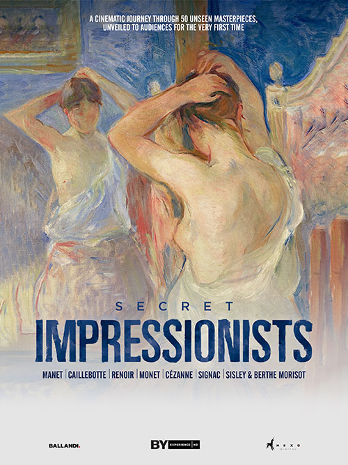 Great Art on Screen documentary seriesAvailable April 28 through May 4, showtimes are 1:00 pm, 4:00 pm, 7:00 pm, and 10:00 pmLocation:Online. Click HERE to purchase tickets and view.Admission: $10 (plus any applicable fees and taxes)Secret Impressionistsreveals the story of the art revolution sparked by the Impressionist movement, along with an unveiling of 50 previously unseen works by Impressionist masters Manet, Caillebotte, Renoir, Monet, Cézanne, Signac, Sisley and Morisot. These hidden treasures, loaned from some of the most important private collections, are now on display for the first time in Rome's Palazzo Bonaparte, in an exhibition of the same title. Audiences will be taken on a fascinating journey through the most captivating and intriguing artistic movement which created some of the most beloved works of art in the world, depicting the late nineteenth-century film stills of Paris, alluring portraits of women, and splendidly vibrant light-infused masterpiece works. This is a livestream event. Just like a live show, you can only watch it on the date and time it takes place. Click the link above to select the date and time to watch.